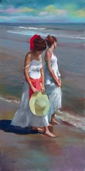 La Playa I by Domingo - Original Drawing, Paper on Board sized 16x32 inches. Available from Whitewall Galleries